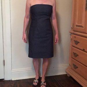 Stylish strapless denim dress, size 10 runs small